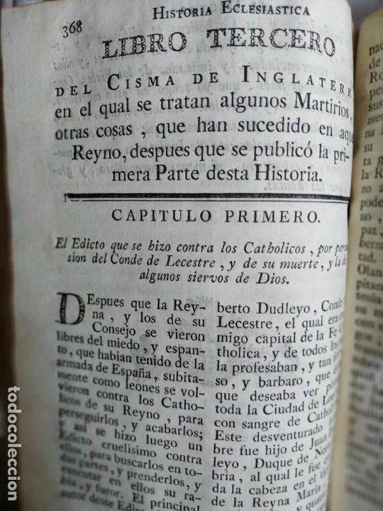 Libros antiguos: P. Ribadeneira ( Jesuita ) Historia Eclesiástica Cisma Inglaterra. Madrid 1786 Placido Barco - Foto 5 - 271091638