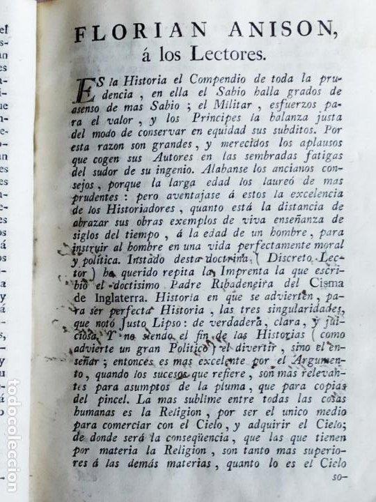 Libros antiguos: P. Ribadeneira ( Jesuita ) Historia Eclesiástica Cisma Inglaterra. Madrid 1786 Placido Barco - Foto 8 - 271091638