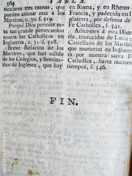 Libros antiguos: P. Ribadeneira ( Jesuita ) Historia Eclesiástica Cisma Inglaterra. Madrid 1786 Placido Barco - Foto 9 - 271091638