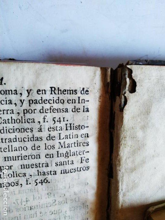 Libros antiguos: P. Ribadeneira ( Jesuita ) Historia Eclesiástica Cisma Inglaterra. Madrid 1786 Placido Barco - Foto 10 - 271091638