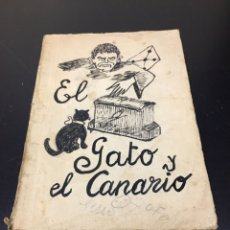 Libros antiguos: CURIOSO LIBRO TEATRO EL GATO Y EL CANARIO POR JOHN WILLARD, MELODRAMA DE LA ALTA SOCIEDAD AMERICANA. Lote 271156338