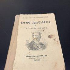 Libros antiguos: ANTIGUO Y CURIOSO LIBRO TEATRO DON ALVARO O LA FUERZA DEL SINO. MADRID DUQUE DE RIVAS. Lote 271335328