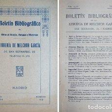 Libros antiguos: GARCIA MORENO, MELCHOR. BOLETÍN BIBLIOGRÁFICO DE LA LIBRERIA DE... Nº 52. 1926.. Lote 271384373