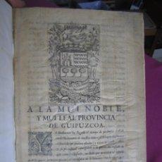 Libros antiguos: DICCIONARIO LENGUA BASCUENCE TRILINGUE LARRAMENDI PRIMERA EDICION 1744. Lote 271585468