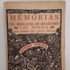 Libros antiguos: SONATA DE ESTÍO. MEMORIAS DEL MARQUÉS DE BRADOMÍN. VALLE-INCLÁN 1933. RIVADENEYRA. Lote 272087663