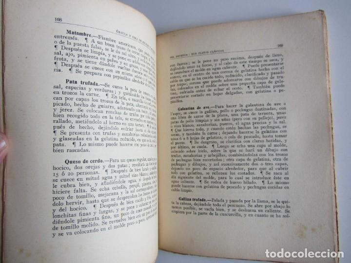 Libros antiguos: El Amparo. Sus platos clásicos. Bilbao 1930 Segunda edición. Gastronomia vasca. - Foto 6 - 272681443