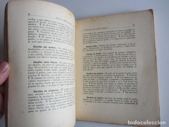 Libros antiguos: El Amparo. Sus platos clásicos. Bilbao 1930 Segunda edición. Gastronomia vasca. - Foto 8 - 272681443