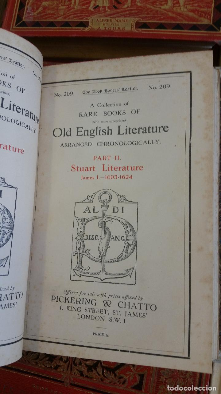 Libros antiguos: A Collection of Rare Books of (with some exceptions) Old English Literature - 13 números - Foto 10 - 272908223