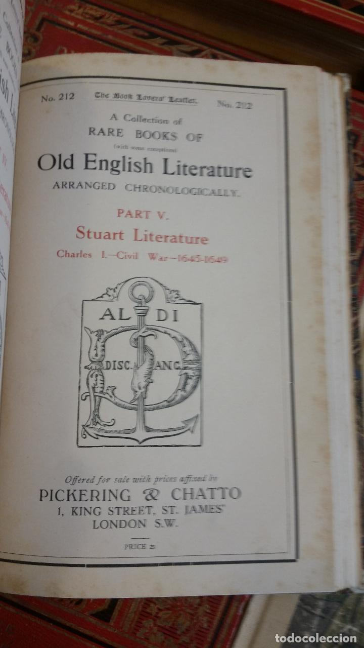 Libros antiguos: A Collection of Rare Books of (with some exceptions) Old English Literature - 13 números - Foto 15 - 272908223