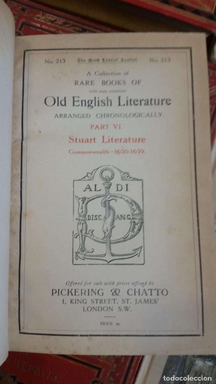 Libros antiguos: A Collection of Rare Books of (with some exceptions) Old English Literature - 13 números - Foto 16 - 272908223