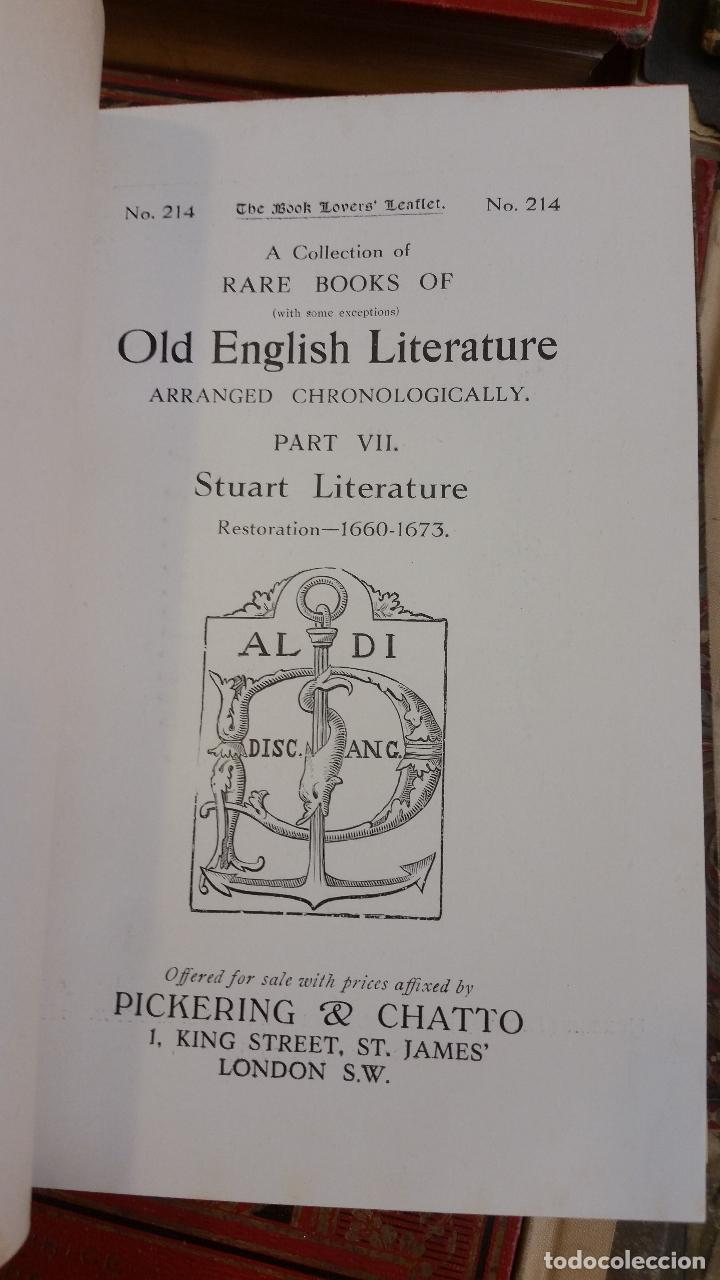 Libros antiguos: A Collection of Rare Books of (with some exceptions) Old English Literature - 13 números - Foto 17 - 272908223