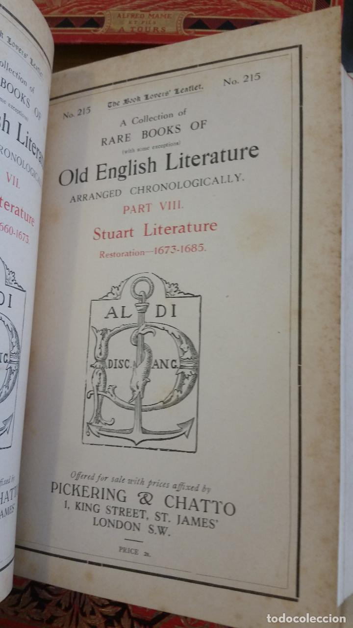 Libros antiguos: A Collection of Rare Books of (with some exceptions) Old English Literature - 13 números - Foto 18 - 272908223