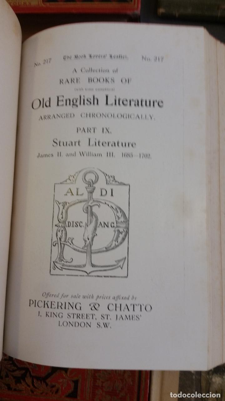 Libros antiguos: A Collection of Rare Books of (with some exceptions) Old English Literature - 13 números - Foto 20 - 272908223