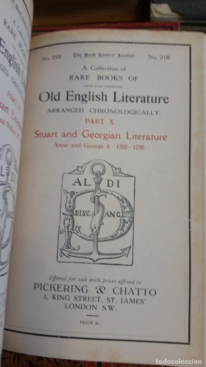 Libros antiguos: A Collection of Rare Books of (with some exceptions) Old English Literature - 13 números - Foto 21 - 272908223