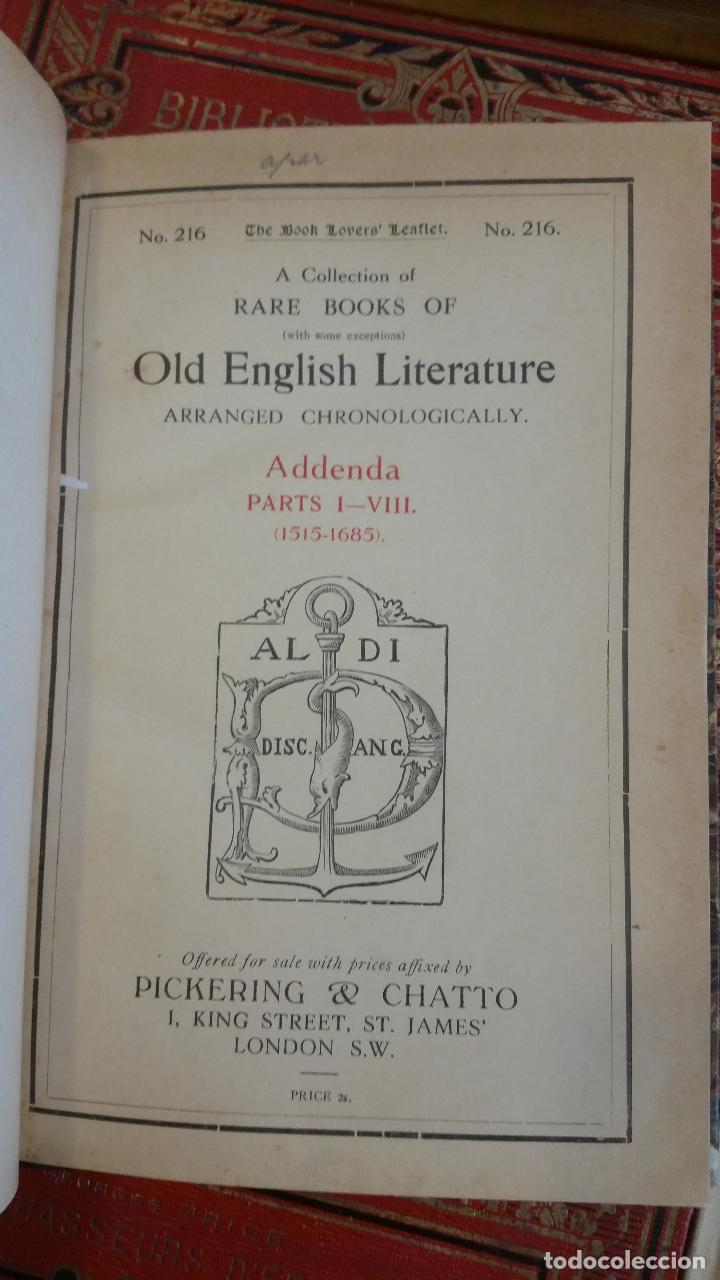 Libros antiguos: A Collection of Rare Books of (with some exceptions) Old English Literature - 13 números - Foto 22 - 272908223