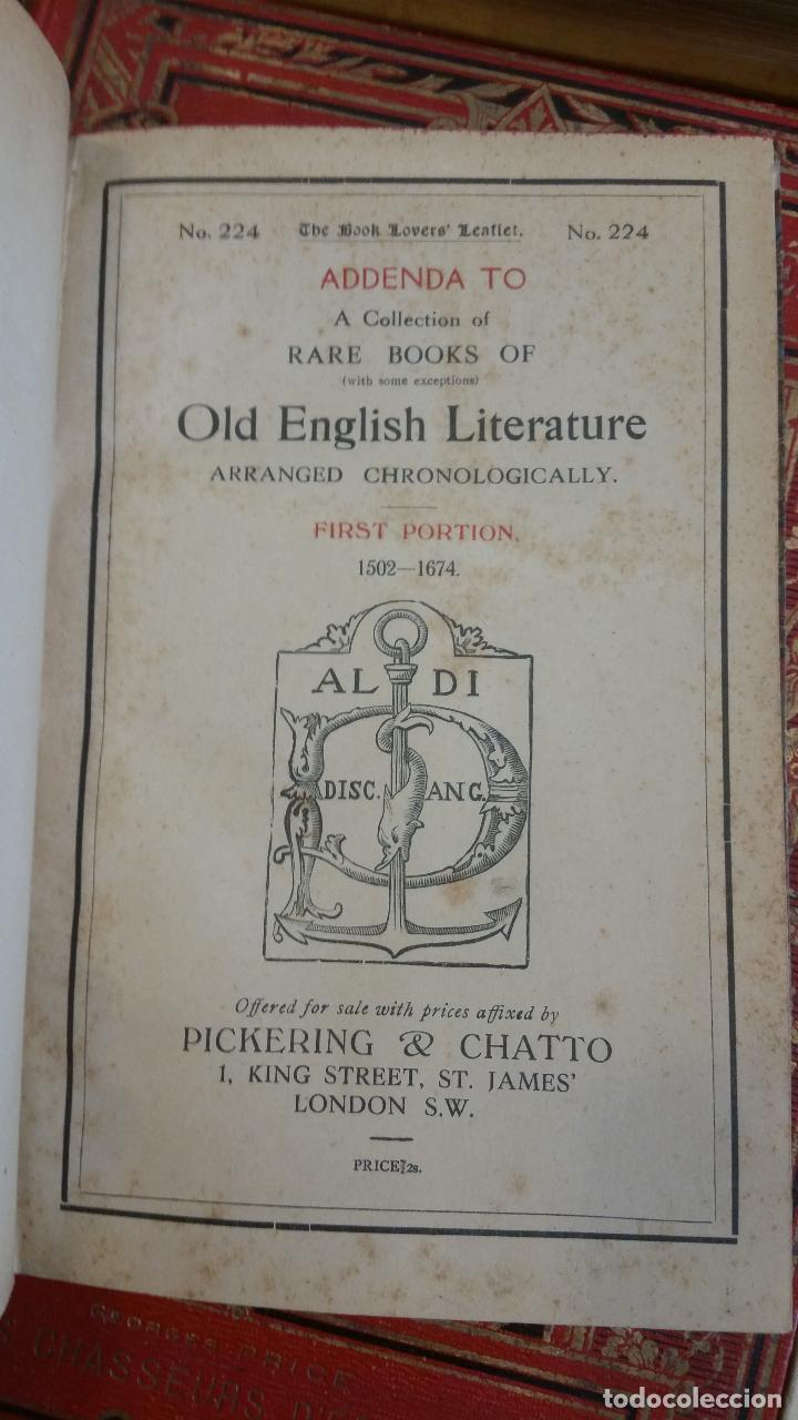 Libros antiguos: A Collection of Rare Books of (with some exceptions) Old English Literature - 13 números - Foto 23 - 272908223