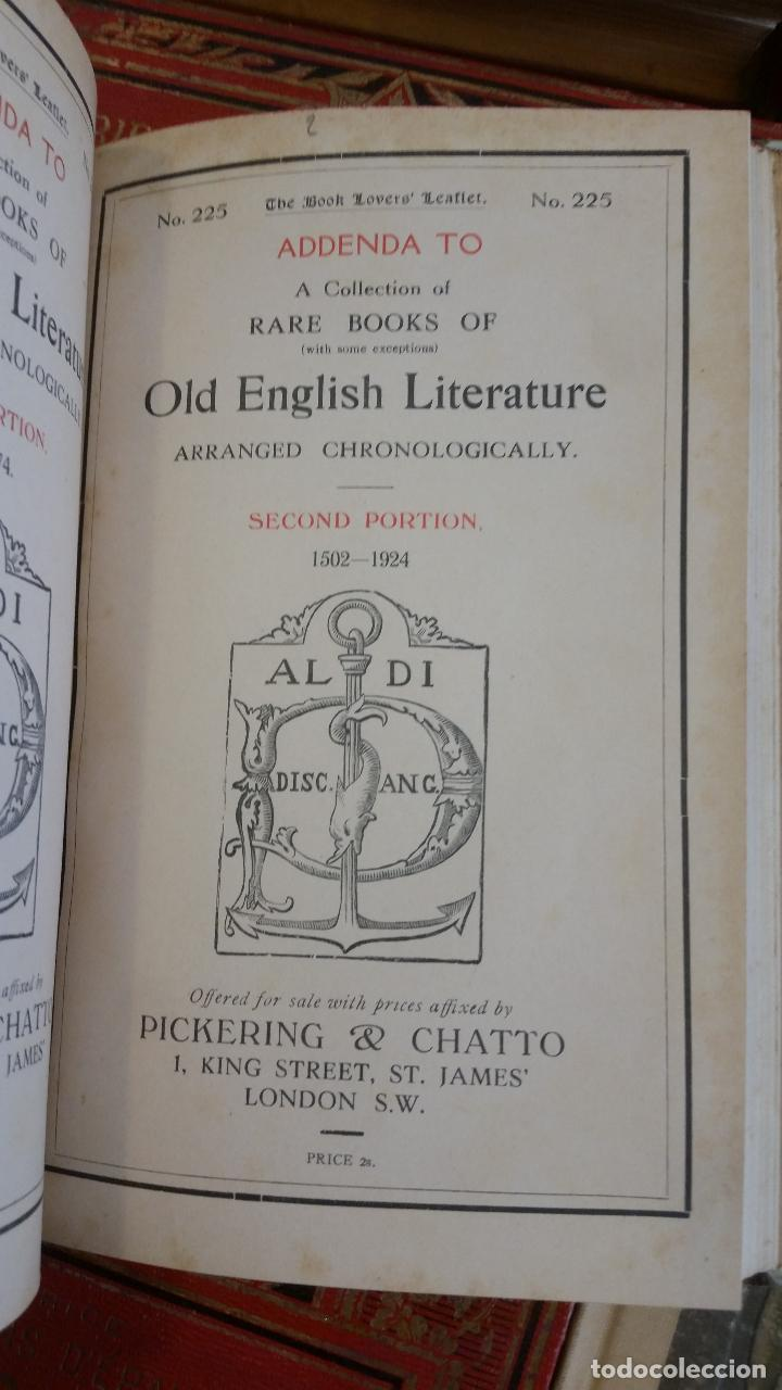 Libros antiguos: A Collection of Rare Books of (with some exceptions) Old English Literature - 13 números - Foto 24 - 272908223