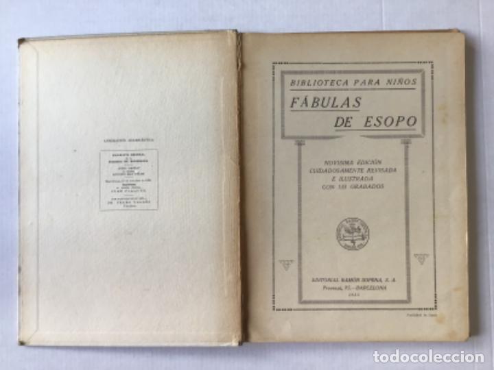 Libros antiguos: FABULAS DE ESOPO. - ESOPO. - Foto 2 - 273105093