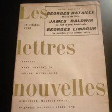 Libros antiguos: LES LETTRES NOUVELLES. Lote 273142203