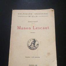 Libros antiguos: MANON LESCAUT. Lote 273153468