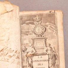 Libros antiguos: ETIENNE MICHALLET - LA CONNAISSANCE DES TEMPS - 1698. Lote 273298343