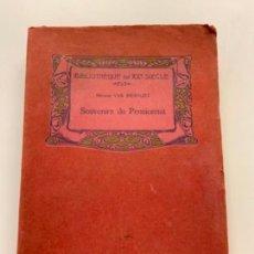 Libros antiguos: ANTIGUO LIBRO SOUVENIRS DU PENSIONNAT. INTONSO. EN FRANCÉS. POR MÉLANIE VAN BIERVLIET.. Lote 273918033