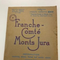 Libros antiguos: PRECIOSO LIBRO ANTIGUO FRANCHE-COMPTÉ. EN FRANCÉS.. Lote 274173388