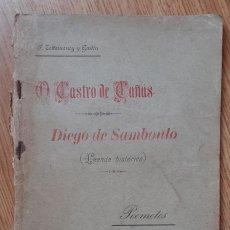 Libros antiguos: O CASTRO DE CAÑAS DIEGO DE SAMBOULO. FALTA CONTRAPORTADA.. Lote 274352748