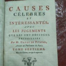 Livres anciens: CAUSES CÉLEBRES DE 1775. Lote 274545723