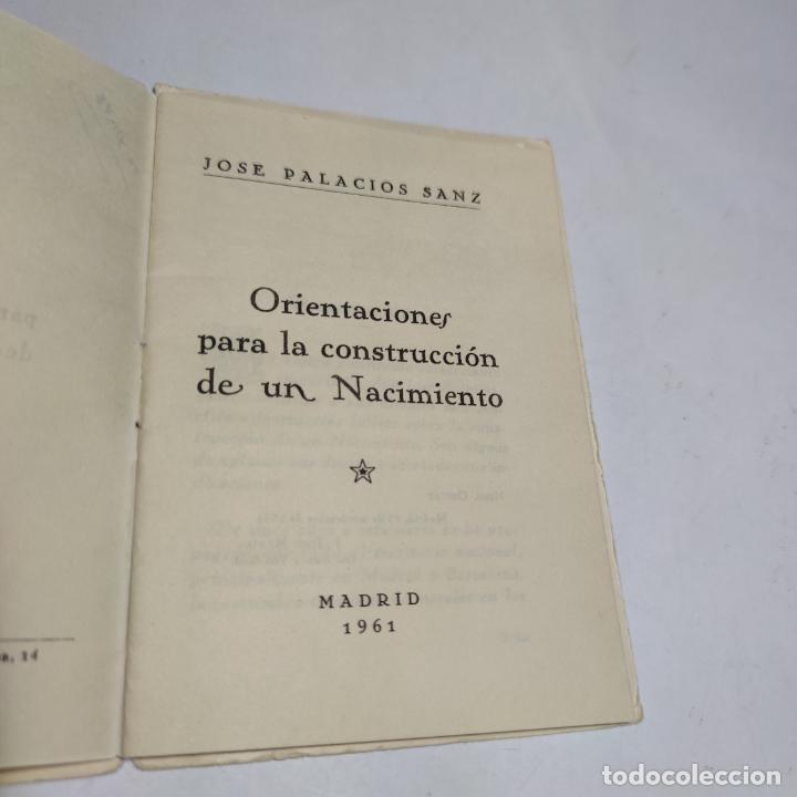 Libros antiguos: Orientaciones para la construcción de un Nacimiento. José Palacios Sanz. Madrid. 1961. - Foto 2 - 274687908
