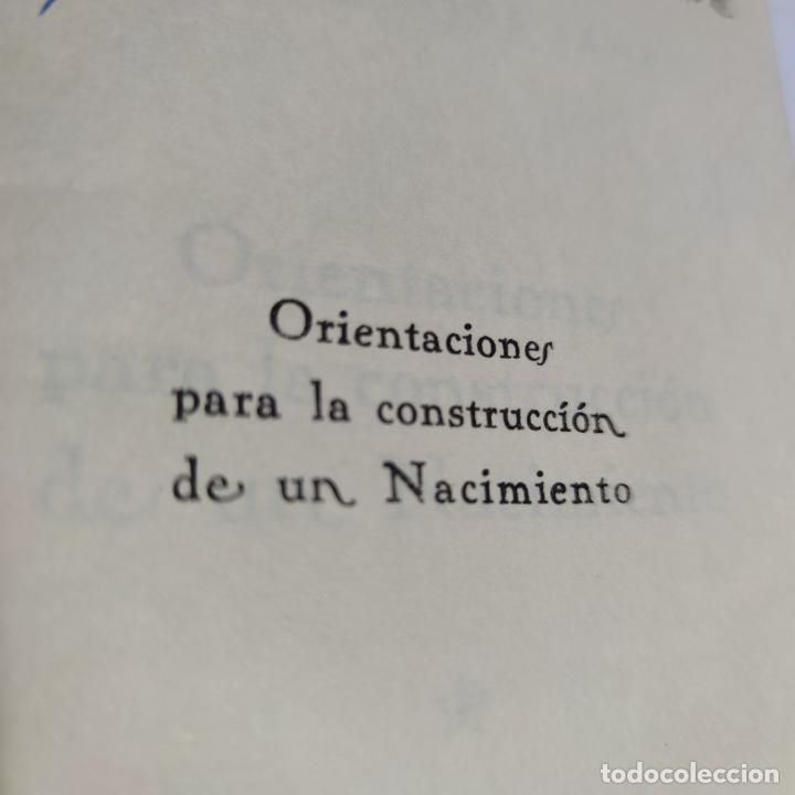 Libros antiguos: Orientaciones para la construcción de un Nacimiento. José Palacios Sanz. Madrid. 1961. - Foto 3 - 274687908