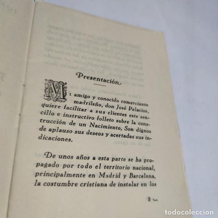Libros antiguos: Orientaciones para la construcción de un Nacimiento. José Palacios Sanz. Madrid. 1961. - Foto 4 - 274687908