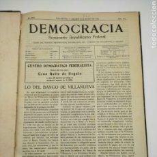 Libros antiguos: PERIÓDICO POLÍTICO DEMOCRÀCIA VILANOVA I LA GELTRÚ AÑO COMPLETO 1925. Lote 275122843