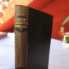 Livres anciens: GIACOMO CASANOVA, MEMORIAS, TOMO V, AGUILAR 1982, COLECCION JOYA, CON ILUSTRACIONES. Lote 275311988