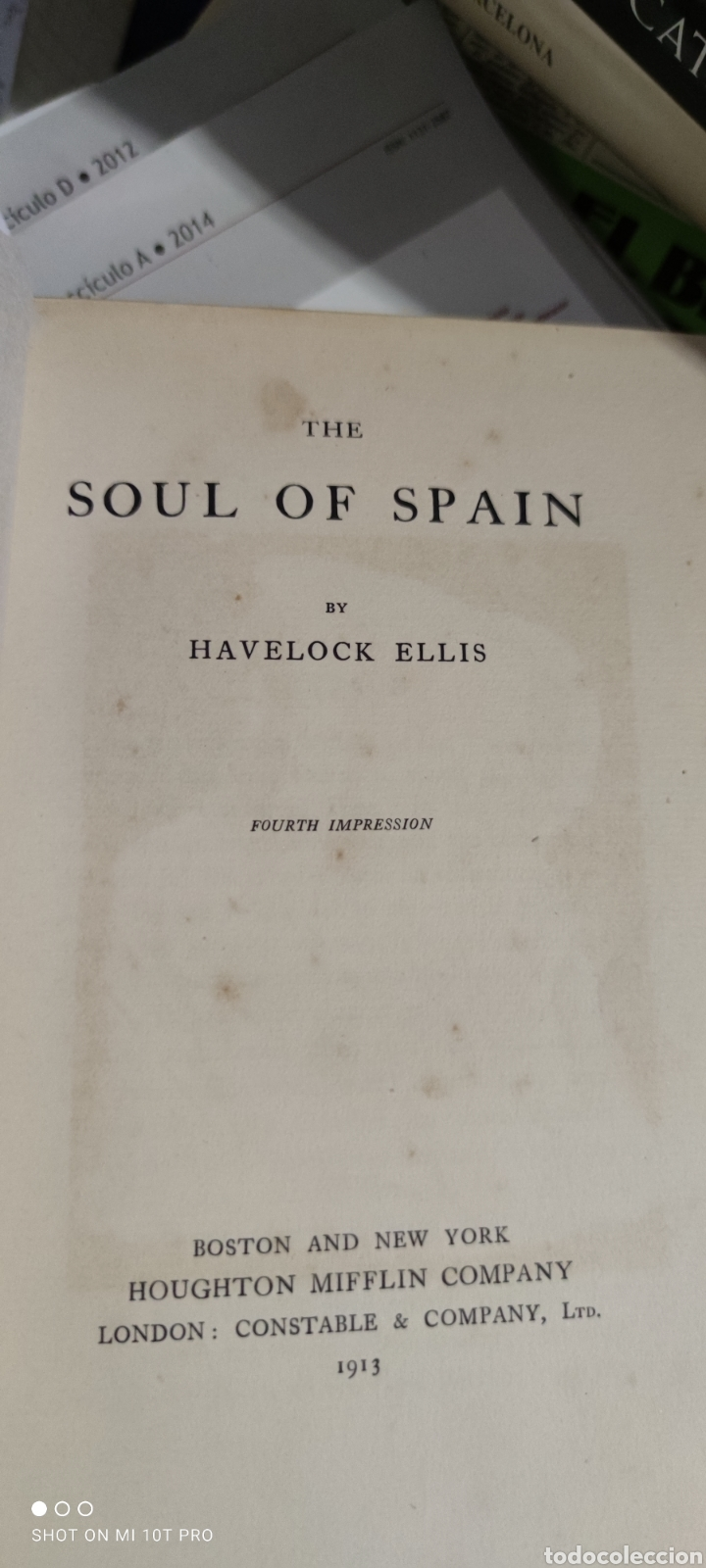 Libros antiguos: The soul of spain havelock ellis.1913 - Foto 2 - 275544978