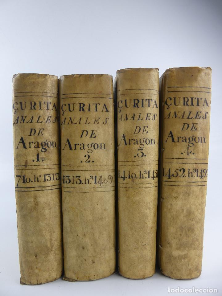 IV TOMOS ANALES DE ARAGON POR ZURITA OBJETO DE COLECCION (Libros Antiguos, Raros y Curiosos - Historia - Otros)