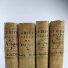 Libros antiguos: IV TOMOS ANALES DE ARAGON POR ZURITA OBJETO DE COLECCION. Lote 275998693