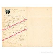 Libros antiguos: CARTA MANUSCRITA Y FIRMADA DE BENITO PÉREZ GALDÓS DIRIGIDA A RUPERTO CHAPÍ. SANTANDER, 1894. Lote 276025498