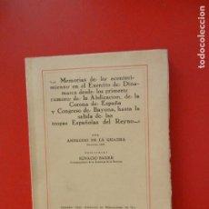 Libros antiguos: AMBROSIO DE LA QUADRA - MEMORIAS DE LOS ACONTECIMIENTOS EN EL EJERCITO DE DINAMARCA ...- I. BAUER.. Lote 276079143