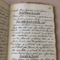 Libri antichi: ANTIGUO MANUSCRITO RECETARIO DE COCINA ELABORACIONES CONSEJOS VARIOS. Lote 276126443