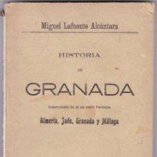 Livros antigos: MIGUEL LAFUENTE ALCÁNTARA: GRANADA 4 TOMOS. Lote 276137663