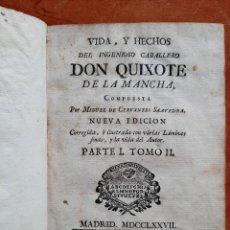 Livres anciens: 1777 DON QUIJOTE - CERVANTES / SANCHA - 5 GRABADOS. Lote 276186618