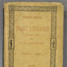 Libros antiguos: 1890.- COLECCION ESCOGIDA DE TROZOS LITERARIOS. 2 TOMOS. PROSA Y VERSO. SATURNINO CALLEJA. Lote 276201063