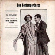 Libros antiguos: MANUEL LINARES RIVAS : EL ABOLENGO (LOS CONTEMPORÁNEOS, 1913). Lote 276232743