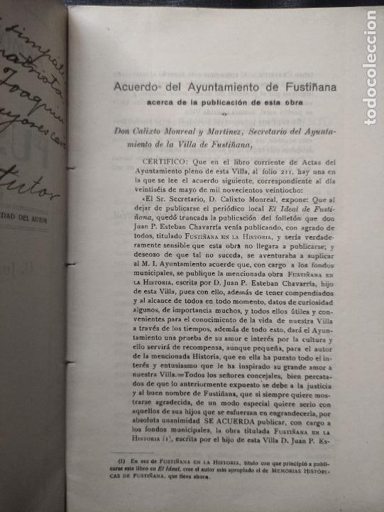 Libros antiguos: MEMORIAS HISTORICAS DE FUSTIÑANA (NAVARRA) - JUAN P. ESTEBAN CHAVARRIA 1930 -FIRMADO Y DEDICADO AUT - Foto 3 - 276380248