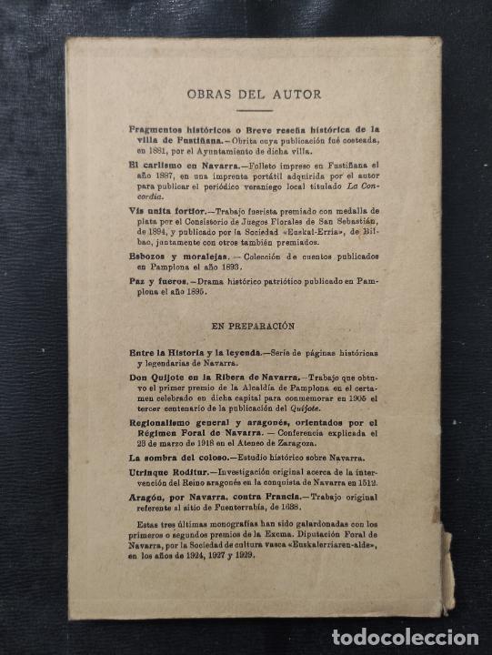 Libros antiguos: MEMORIAS HISTORICAS DE FUSTIÑANA (NAVARRA) - JUAN P. ESTEBAN CHAVARRIA 1930 -FIRMADO Y DEDICADO AUT - Foto 5 - 276380248