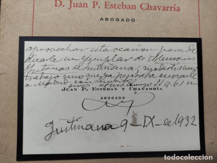 Libros antiguos: MEMORIAS HISTORICAS DE FUSTIÑANA (NAVARRA) - JUAN P. ESTEBAN CHAVARRIA 1930 -FIRMADO Y DEDICADO AUT - Foto 8 - 276380248