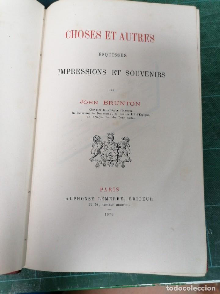BRUNTON, CHOSES & AUTRES (Libros Antiguos, Raros y Curiosos - Historia - Otros)