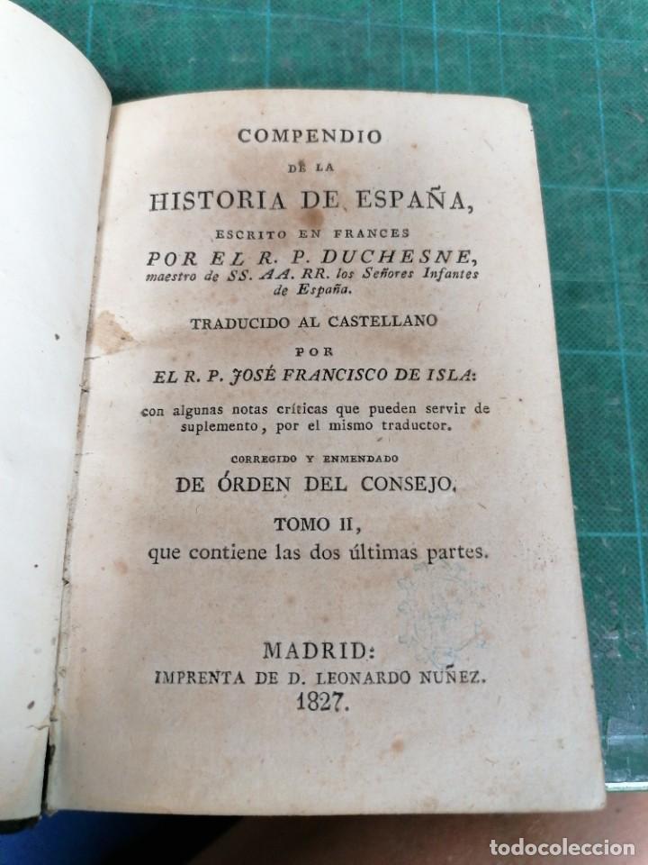 COMPENDIO DE LA HISTORIA DE ESPAÑA ESCRITO EN FRANCÉS POR EL R. P. DUCHESNE... TOMO II (Libros Antiguos, Raros y Curiosos - Historia - Otros)