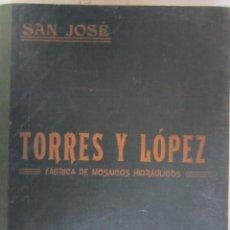 Livres anciens: MAGNIFICO LIBRO MUESTRARIO DE MOSAICOS HIDRAULICOS GRANADINOS 106 MODELOS DIFERENTES 1921. Lote 276493993